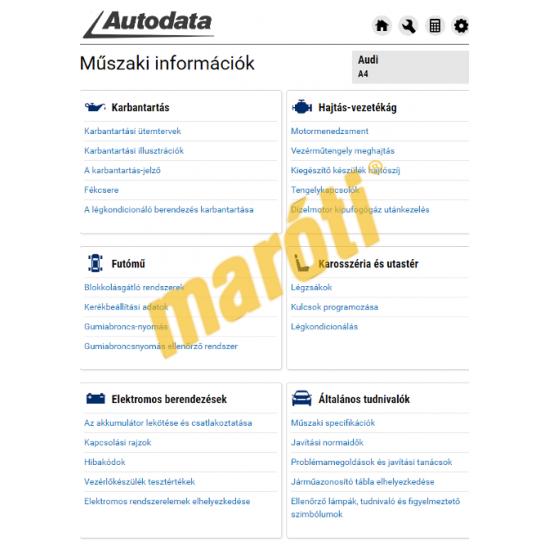 Autodata D&R (Diagnosztika és Javítás)