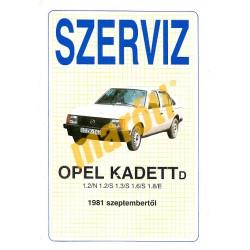 Opel Kadett D 1981-től (Szerviz)