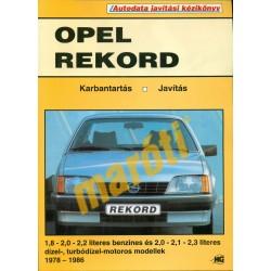 Opel Rekord (1978-1986) (Javítási kézikönyv)