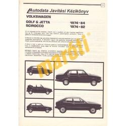 Volkswagen Golf Jetta Scirocco (1974-1983) (Javítási kézikönyv)