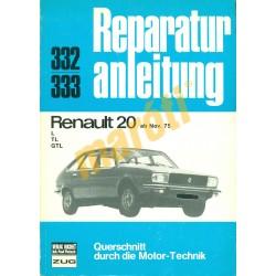 Renault 20  (Javítási kézikönyv)