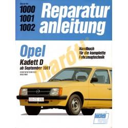 Opel Kadett D 1981-től (Javítási kézikönyv)