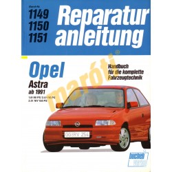Opel Astra 1991-től (Javítási kézikönyv)
