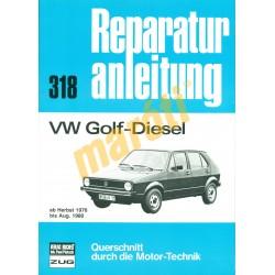 Volkswagen Golf diesel 1976-tól (Javítási kézikönyv)