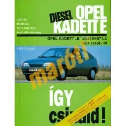 Opel Kadett E dízel 1984-től (Javítási kézikönyv)