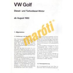 Volkswagen Golf 1983-tól (Javítási kézikönyv)