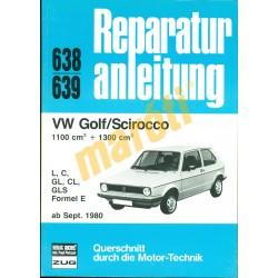 Volkswagen Golf, Scirocco (Javítási kézikönyv)