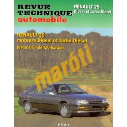 Renault 25 Diesel et turbo Diesel (Javítási könyv)