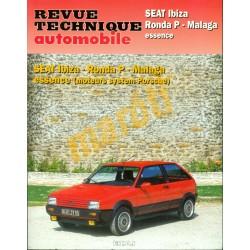 Seat Ibiza, Ronda P, Malaga benzines modellek (Javítási könyv)