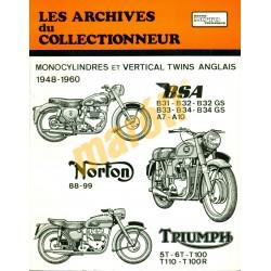 Monocylinders et Vertical Twins Anglais 1948-1960
