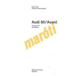 Audi 80 / Avant Benzin 1991 (Javítási kézikönyv)