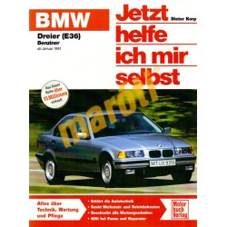 BMW Dreier Benziner (E36) 316i 318 318is Januar 1991- (Javítási kézikönyv)