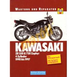 Kawasaki Zr 550 & 750 Zephyr 1990-1997 (Javítási könyv)