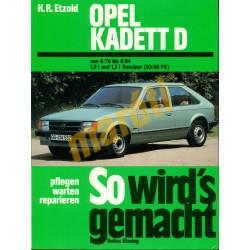 Opel Kadett D 1979-84 (Javítási kézikönyv)