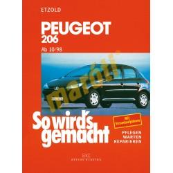 Peugeot 206 ab 1998- (Javítási kézikönyv)