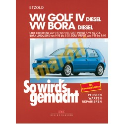 Volkswagen Golf/Bora Diesel 1997-2006 (Javítási kézikönyv)