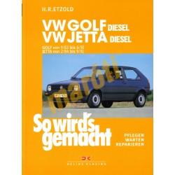 Volkswagen Golf 1983-1992 Diesel Jetta 1984-91 Diesel (Javítási kézikönyv)