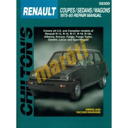 Renault coupes sedans wagons 1975-85 repair manual