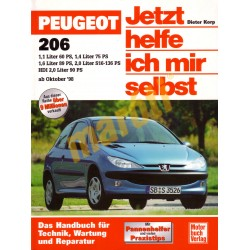 Peugeot 206 ab October 1998 (Javítási kézikönyv)