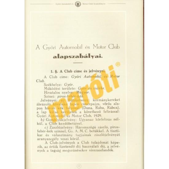 Győri Automobil és Motor Club Aranykönyve