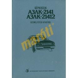 Moszkvics Aleko 2141 és 21412 üzemeltetési utasítás