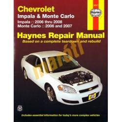 Chevrolet Impala, 2006 - 2008 & Monte Carlo, 2006 - 2007