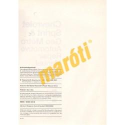 Chevrolet Sprint & Geo Metro 1985 - 2001