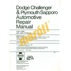 Dodge Challenger & Plymouth Sapporo 1978 - 1983