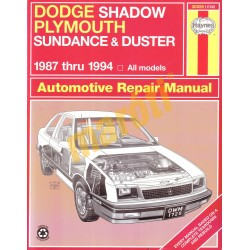 Dodge Shadow & Plymouth Sundance, Duster 1987 - 1994