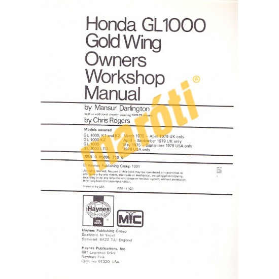 Honda GL1000 Gold Wing (1975 - 1979)