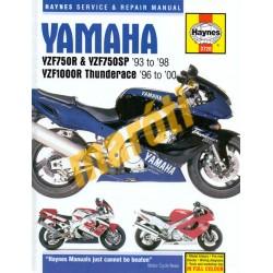 Yamaha YZF750 & YZF750SP 1993 - 1998, YZF1000R Thunderace 1996 - 2000