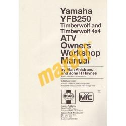Yamaha YFB250 Timberwolf ATVs 1992 - 1996