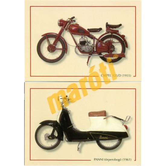 Motorkerékpár képeslapok (15 db)