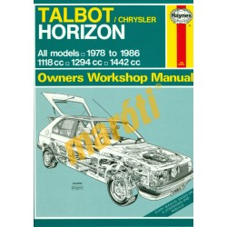 Talbot/Chrysler Horizon (Összes model 1978-1986)