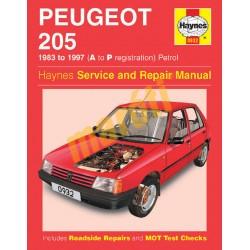 Peugeot 205 Petrol (1983 - 1997) A to P