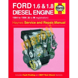 Ford 1.6 & 1.8 litre Diesel Engine (1984 - 1996) A to N