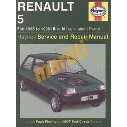 Renault 5 Petrol (Feb 85 - 1996) B to N