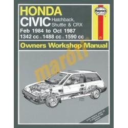 Honda Civic (Feb 84 - Oct 87) A to E