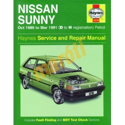 Nissan Sunny Petrol (Oct 86 - Mar 91) D to H