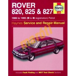 Rover 820, 825 & 827 Petrol (1986 - 1995) D to N
