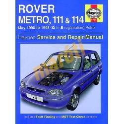 Rover Metro, 111 & 114 Petrol (May 90 - 1998) G to S