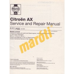 Citroen AX Petrol & Diesel (1987 - 1997) D to P