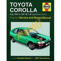 Toyota Corolla Petrol (Aug 92 - 1997) K to P