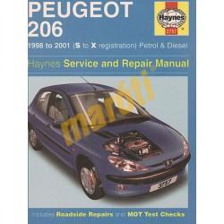Peugeot 206 Petrol & Diesel (1998 - 01) S to X