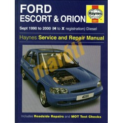 Ford Escort & Orion Diesel  (Sept 90 - 00) H to X