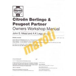 Citroen Berlingo & Peugeot Partner Petrol & Diesel (1996 - 10)