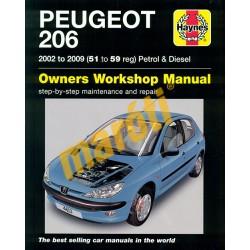 Peugeot 206 Petrol & Diesel 2002 to 2009 (51 to 59 reg)