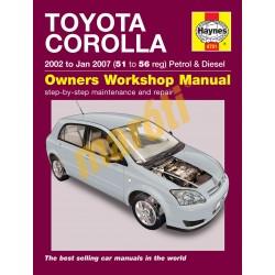 Toyota Corolla (02 - Jan 07) 51 to 56