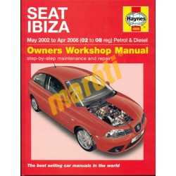 Seat Ibiza Petrol & Diesel (May 02 - Apr 08) 02 to 08