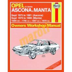 Opel Ascona & Manta (B Series) (Sept 75 - 1988) up to F